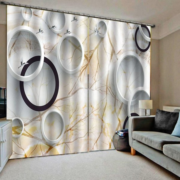 2019 Custom Photo Marble Circle Blackout Curtains Drapes For Living Room  Bedroom Home Drapes Decor From Hobarte, $97.86   DHgate.Com