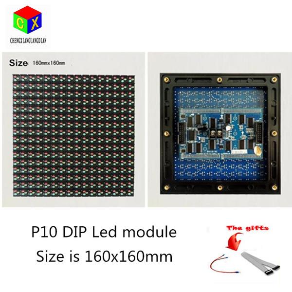 P10 à prova de chuva poeira módulo de exibição de LED ao ar livre completo 160mm * 160mm 1/4 módulo de varredura LEVOU para P10 rgb levou parede de vídeo