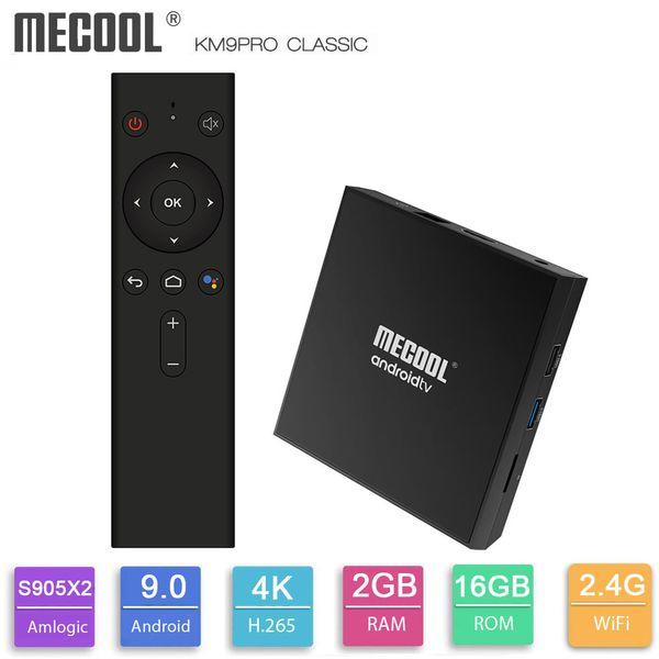 MECOOL KM9 Pro Clássico Caixa de TV Android Caixa de TV Certificado Do Google 2 GB RAM 16 GB ROM Amlogic S905X2 4 K 2.4G Wifi BT4.0 Set Top Box