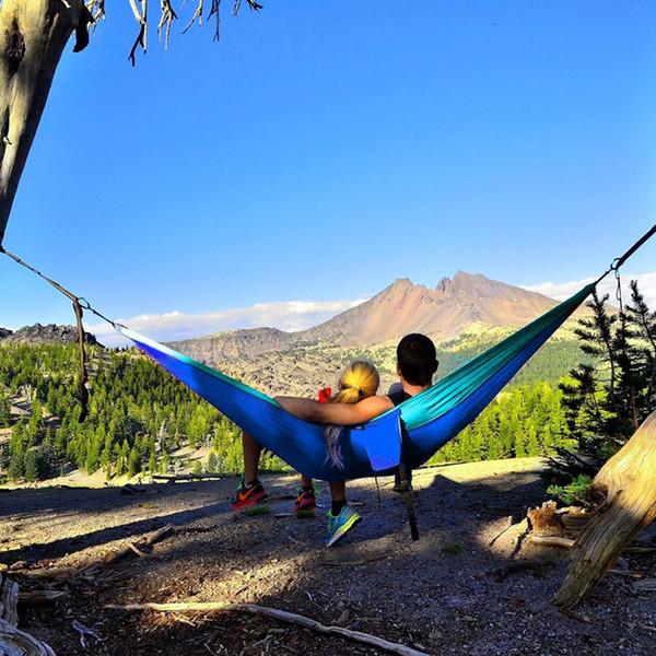 Awe Inspiring 2019 Two Person Outdoor Garden Swing Hammock Chair Furniture Camping Travel Hammock 2 Steel Carabiner 2 Nylon Strength Tree Belt From Alexandr 40 15 Machost Co Dining Chair Design Ideas Machostcouk