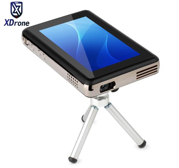 2017 Çin Taşınabilir Akıllı Mini Dokunmatik Android Projektör Tablet PC DLP 150 Lümen Dört Çekirdekli RK3288 5.5 Inç Ekran WiFi HI-FI