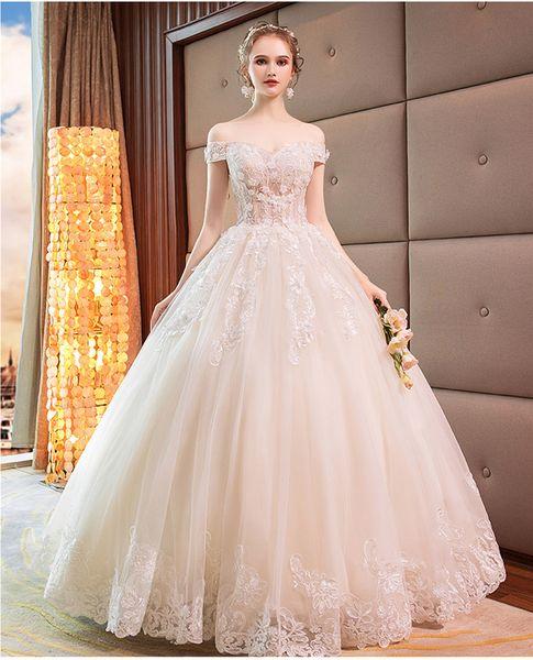 the cheapest performance sportswear good texture European Wedding Dress 2019 New Slim Bride Luxury Floor Length Princess  Dream Bride Dress Lace Up Illusion Bodice Wedding Dresses Gowns Wedding  Gown ...