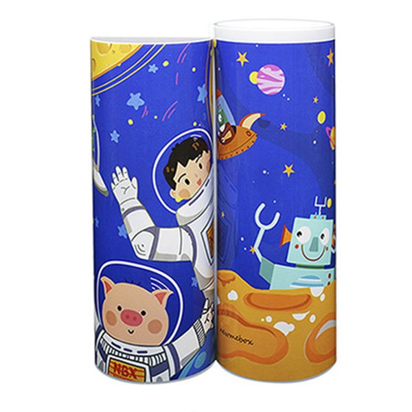 Solar Calculator Pencil Case Cartoon Large Capacity Student Whiteboard School ABS Multifunctional Double-deck Pen Box Mirror