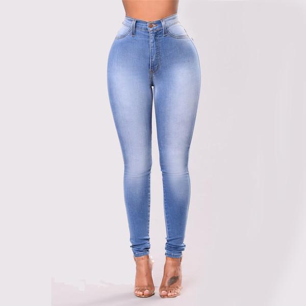 Femmes Skinny Slim Crayon Jeans Femme Taille Plus S-3X Big Hip Pantalon Lady mi taille Elasticité Fille Pantalon causales Outwear Bas