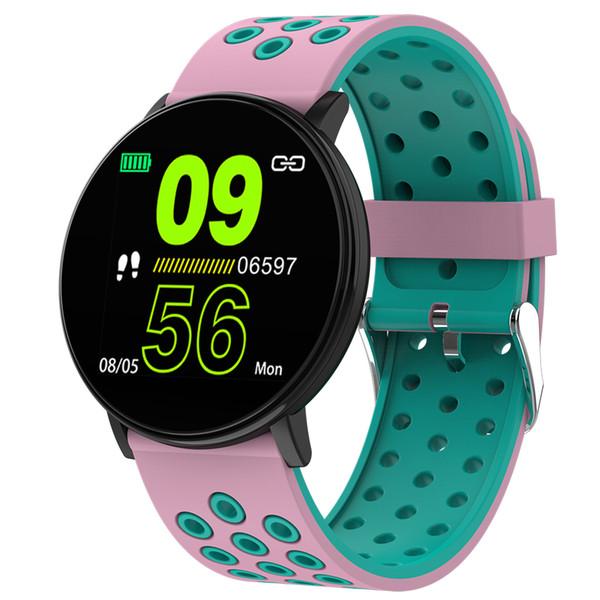 iphone İÇİN Akıllı izle 1.3 inç renkli ekran spor bilezik spor dijital kol saati Renkli bileklik nabız uyku izleme
