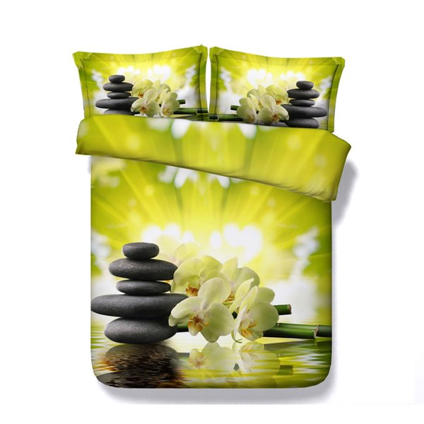 Floral bed cover Green Oriental Bedspread Butterfly Floral Bedding Pink Comforter Cover Flower Bamboo Forest Duvet Cover Set Plant