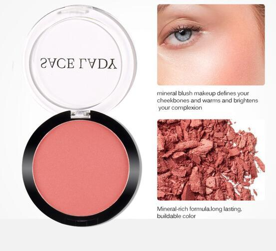 SACE LADY Pressed Compact Blush Buildable Lunga durata Pigmented Cheek Rouge Makeup Natural Rosy Looking Glow Powder Cosmetic