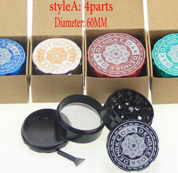 estilo A: 60mm 4parts mezcla colores