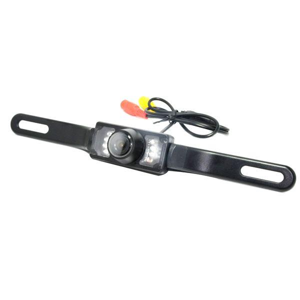 HD visión nocturna del vehículo que invierte la cámara de visión trasera de coche universal largo 12LED accesorios marco de la placa de reemplazo de instalación sencilla