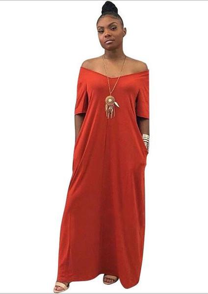 Женское новое взрывное платье с V-образным вырезом без рукавов и карманами с короткими рукавами Повседневное платье для женщин M1