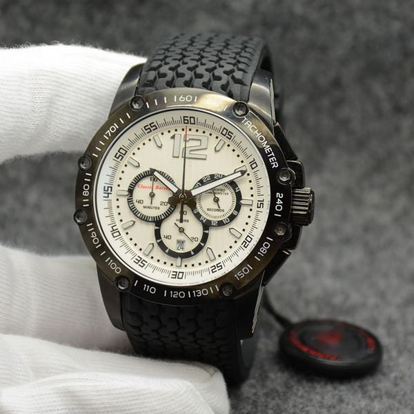 wholesale miglia classic racing chronograph quartz black dial formula 1 men wristwatches pvd black case mens watch rubber strap watches - from $62.95