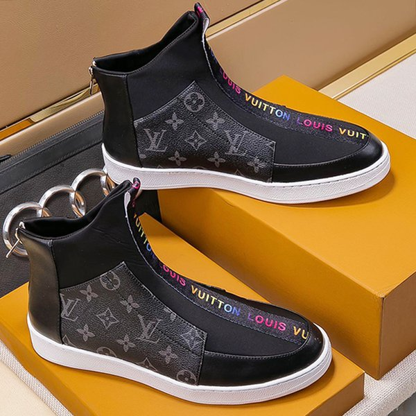 Mens Ankle Boots Dress Shoes Zipper Motorcycle Plus Size 38~45 Luxury Bottes Chaussures pour hommes Mens Fashion Shoes Footwears Fast Ship