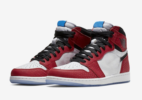 789d85e92e05b7 2018 Authentic 1 High OG Chicago Crystal Gym Red Spider Blue Red White 1S  Basketball Shoes
