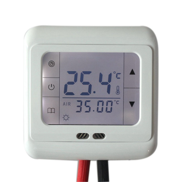 16A Digital Touch Screen Floor Heating Thermostat Room Warm Temperature Controller Auto Control with LCD Backlight