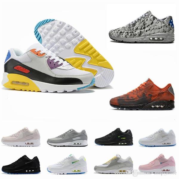 2019 Новый 90 Be True Rainbow Shoes Для Мужчин 90s 3M Светоотражающий Марс Landing Кроссовки Дизайнер Mixtape Jelly Спортивные кроссовки