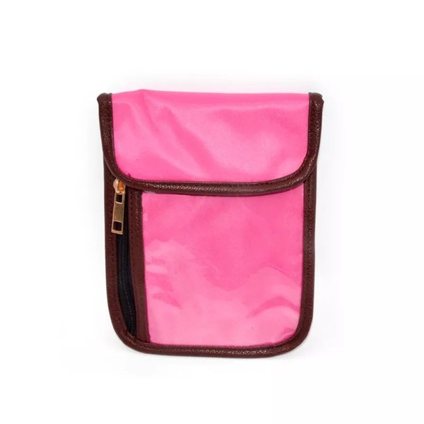 RFID transluzent berührten PVC-Handytasche Womens Custom Reisepassinhabers RFID Blockieren Neck Stash Undercover Neck Brieftasche und Halsbeutel