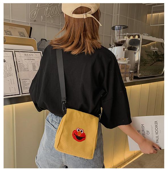 nouvelle arrivée le sac de toile de designer de bande dessinée de sac de toile de Sesame Street pour les sacs à bandoulière de marque de créateur de mode filles
