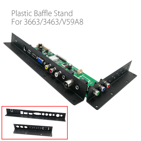 Games & Accessories Cases For 3663 3463A LCD LED TV Driver Board Baffle Iron Metal Black pvc Plastic Baffle Stand For LCD