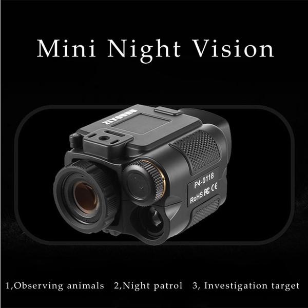 1X18 Mini multifunción IR Digital infrarrojo Monocular Telescopio de visión nocturna Visión nocturna Alcance de visión para cámara Caza de video