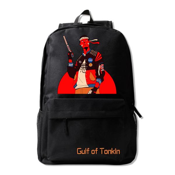 Gulf of Torkin Backpack Popular Creative Design Bookbag Teenage Boys School Bag Cool Daypack for Men