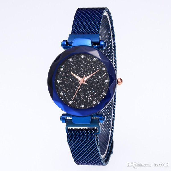 Shaking tone same type net red iron-absorbing stone lazy star surface female watch Milan net belt student watch foreign trade money Watch