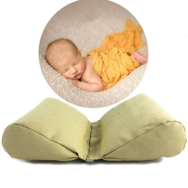 Pu Leather Newborn Photography Props Cycle Wedge Shaped Pillow Baby Photo Prop Backdrop Basket Stuffer Atrezzo Fotos 3 Colors Q190521