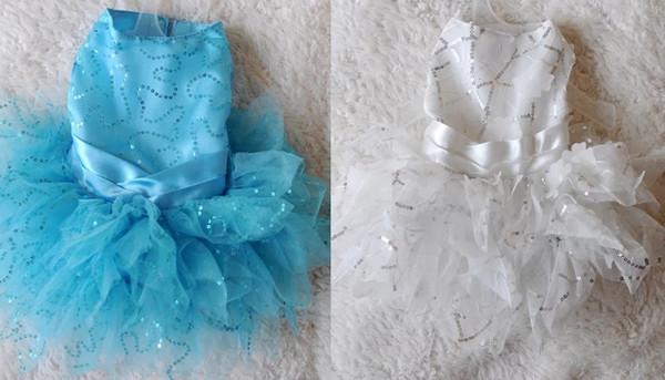 Designer dog dress Butterfly Wedding Dress pet skirt 012