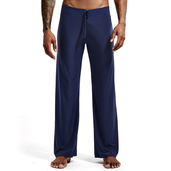 Man Long Pant Sleepwear Comfy Breathable Slip Mans Sleep Bottoms Men's Casual Trousers Homewear See Through Pajama Pants