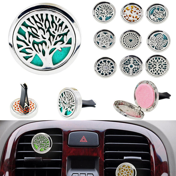 Car Perfume Clip Home Essential Oil Diffuser For Car Locket Clip Stainless Steel Car Air Freshener Conditioning Vent Clip Free DHL WX9-296