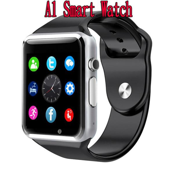 A1 Akıllı İzle IOS iPhone Samsung Android Telefon Için Bluetooth Akıllı Watche Akıllı Saat Spor Saatler PK DZ09 Z60 DHL Ücretsiz