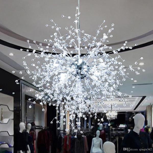 Dandelion Chandeliers Lighting for Dining Room Dormitorio Sala de estar Sala de estar Lámpara colgante LED de luz blanca