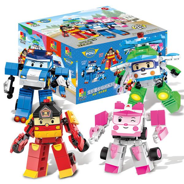 Genuine warma assembling building blocks puzzle assembling deformation plastic small particles peri building blocks 1 to 2 kids toys
