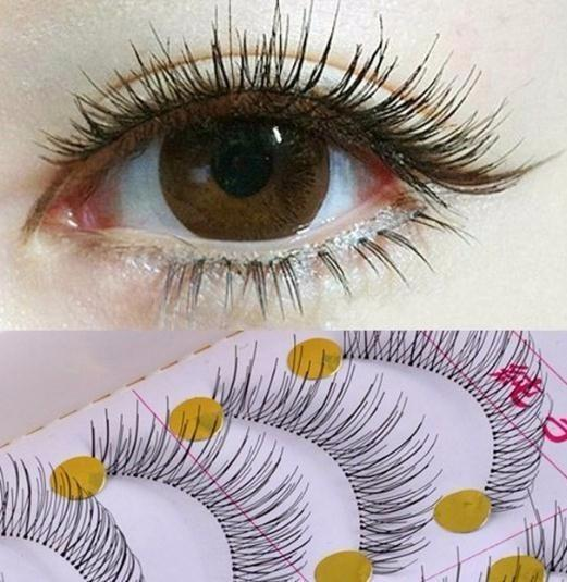 10pair False Eyelashes Reusable Natural And Regular Long Eyelashes Artificial Fake Eye Makeup Eye Lashes Wimpers