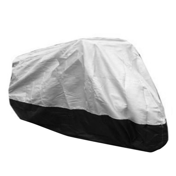 top popular XXXL XXL L Waterproof Motorcycle Cover Dustproof UV Protect 300D Polyester Motorbike Surface Cover Elastic Bottom Hem with Hook 2020