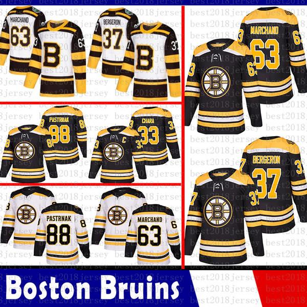Bo ton bruin 33 zdeno chara hockey jer ey 37 patrice bergeron 63 brad marchand 88 david pa trnak 4 bobby orr jer ey 2018 2019 new