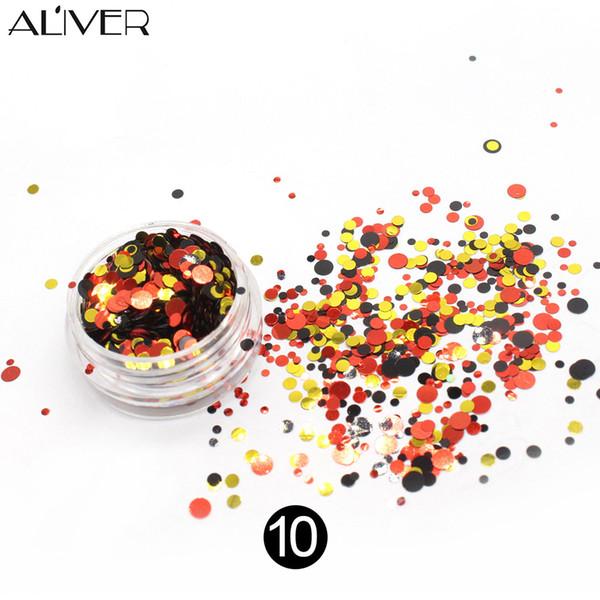 Deslumbrante etiqueta engomada del clavo lentejuelas colorido decoración del arte del clavo brillo joyería DIY calcomanía accesorios BV789
