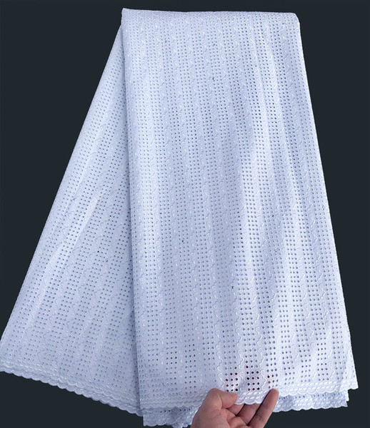 best selling 5 yards soft African Swiss voile lace polish lace fabric Nigerian sewing voile cloth
