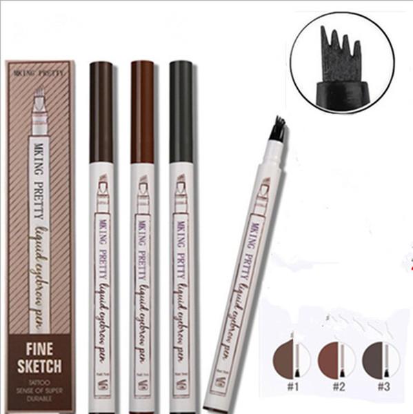 La penna impermeabile del sopracciglio della penna di colori 4 impermeabilizzano i corredi sottili di schizzo della testa della penna del tatuaggio della matita della penna dell'occhio 4 DHL libera il trasporto