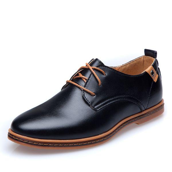 Moda De Ue Hombre Vestir Hombres Zapatos La Pop Primavera Otoño Low Tamaño Sale Cordones Grande Compre Con Niza Casuales Cuero X08nwkOP