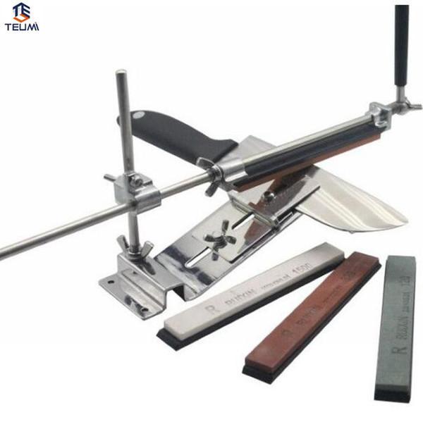 Afilador de cuchillos profesionales Afilado Sistema 1 Set piedras de afilar Ruixin fijar-ángulo 4 Whetston Ketchen Accesorios.