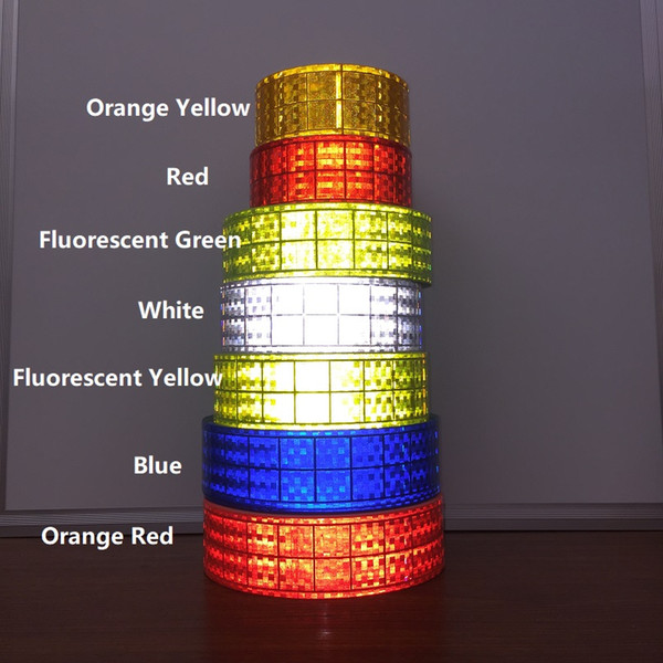 top popular 5cm*50M Small Square Flashing Reflective PVC Tape Sewing For Garment Shoes Bag 2021