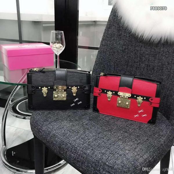 Dernier style célèbre cuir véritable plus populaire eau ondulation sac à bandoulière femmes sacs feminina petit sac portefeuille