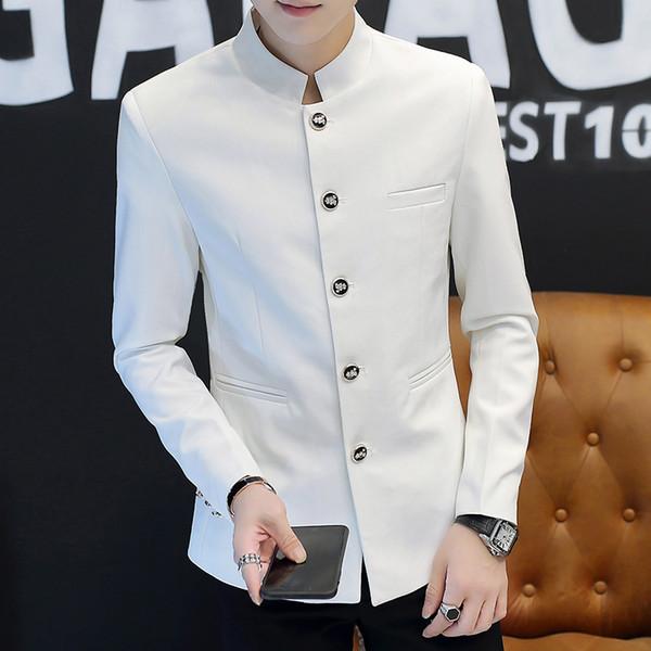 personalizado El nuevo estilo de chaqueta de traje de cuello alto en otoño es un traje chino de ocio de estilo chino, guapo