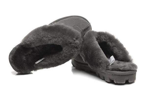 Classique australien WGG coton chaud pantoufles hommes et femmes pantoufles en peau de vache Baotou dlippers bottes de neige Votton Dlippers 137