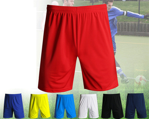 top popular Solid Color Football Shorts Men Fitness Running Football Training Casual Shorts Sweat-absorbent Breathable And Quick-drying Basketball Short 2021