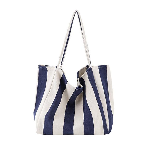 Womens Ladies Canvas Handbag Shoulder Bag Tote Purse Travel Large Messenger Hobo Ladies Striped Bag Organizer Insert