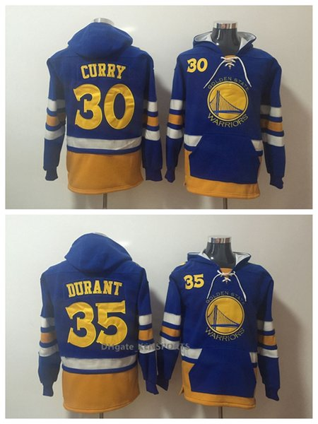 reputable site 3615e 724c1 2019 Men Basketball Warriors Hoodie 35 Kevin Durant 30 Curry ALL Stitched  Sweatshirt S XXXL From Great_jersey0608, $40.11 | DHgate.Com
