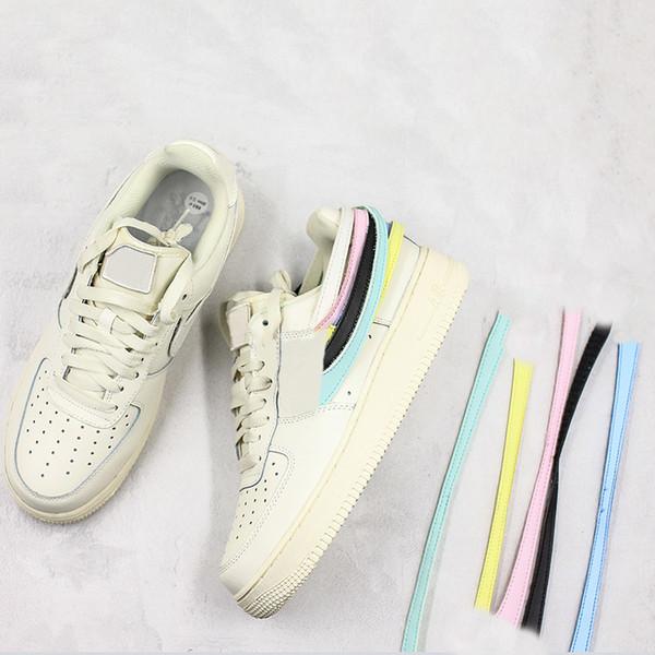 2019 neue zwingen NO.1 Skateboard Schuhe Milch Weiß Ändern Patch Designer Fashion Look Sport Original Casual Sneaker Size5.5-11