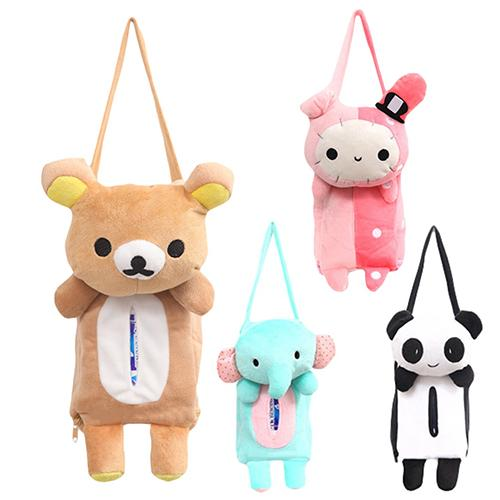 2015 Lovely Cute Rabbit Bear Elephant Panda Home Office Car Auto Automobile Tissue Boxes Cover Napkin Paper Towel Holders Cases