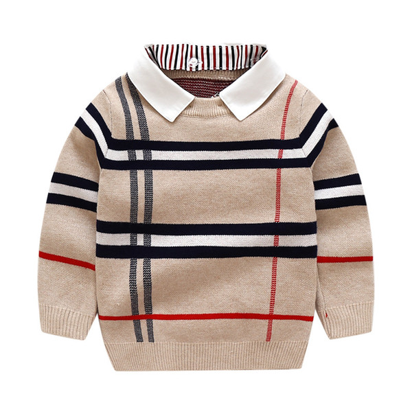 best selling Boys Sweatershirt Autumn Winter Brand Sweater Coat Jacket For Toddle Baby Boy Sweater 2 3 4 5 6 7 Year boys Clothes